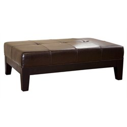 MER-992 Leather Storage Coffee Table Ottoman