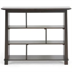 Bowery Hill 3 Shelf Bookcase in Dark Brown