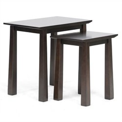 Bowery Hill 2 Piece Nesting Table Set in Dark Brown
