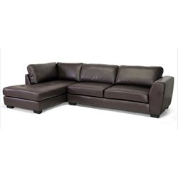 MER-992 Leather Sectional in Brown