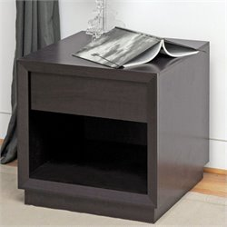Bowery Hill Square End Table in Dark Brown