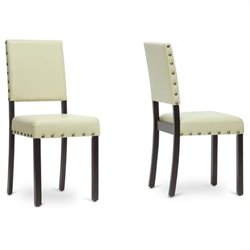 MER-992 Faux Leather Dining Chair in Cream
