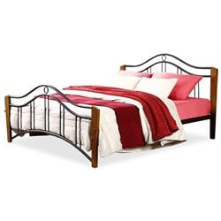 Bowery Hill Queen Metal Spindle Bed in Dark Bronze