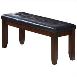 Bowery Hill Bench in Cherry and Black