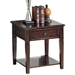 Bowery Hill End Table in Walnut