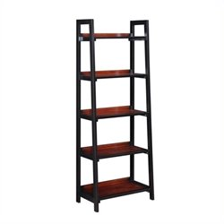 Bowery Hill 5 Shelf Bookcase in Black Cherry