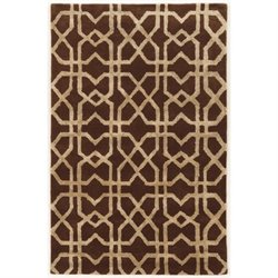 Bowery Hill 5' x 8' Hand Tufted Rug in Brown and Sand