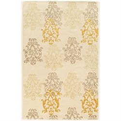 Bowery Hill 5' x 8' Hand Tufted Rug in Ivory and Gold