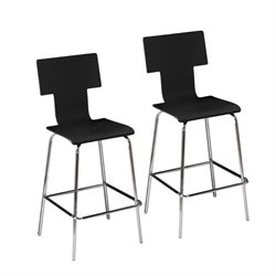 Bowery Hill Bar Stool in Black (Set of 2)