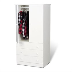 Bowery Hill Wardrobe Armoire in White
