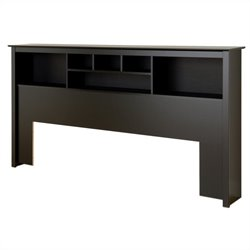 Bowery Hill King Bookcase Headboard in Black