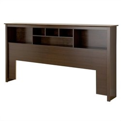 Bowery Hill King Bookcase Headboard in Espresso