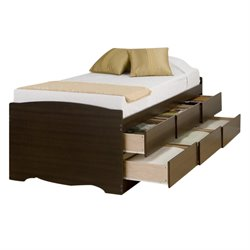 Bowery Hill Tall Platform Storage Bed in Espresso-20161122