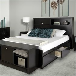 Bowery Hill Full Bookcase Bed in Black