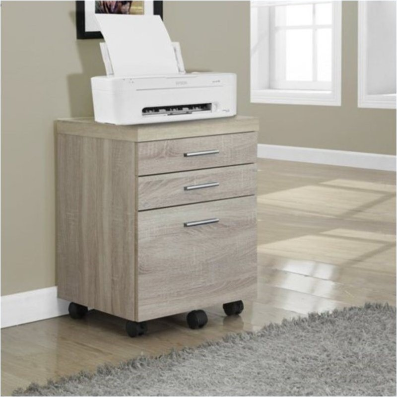 Bowery Hill 3 Drawer File Cabinet in Natural