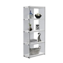 Bowery Hill 4 Shelf Bookcase in Glossy White