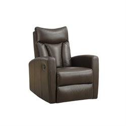 Bowery Hill Leather Swivel Glider Recliner-20161122