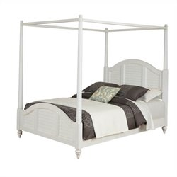 MER-1185 Bowery Hill Canopy Bed Brushed White