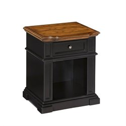 Bowery Hill Nightstand in Black and Oak