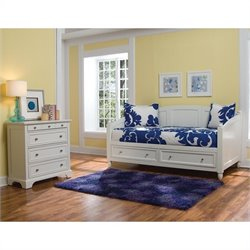 MER-1185 Bowery Hill Storage Daybed in White