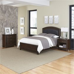 MER-1185 Home Styles Crescent Hill 3 Piece Leather Bedroom Set 027A