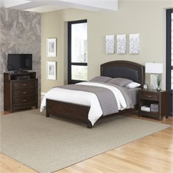 MER-1185 Home Styles Crescent Hill 3 Piece Leather Bedroom Set 028A