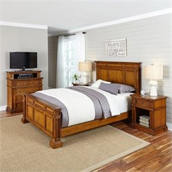 Bowery Hill 4 Piece King Bedroom Set in Oak