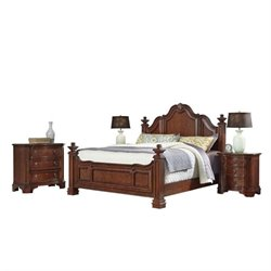 Bowery Hill 4 Piece King Bedroom Set in Cognac