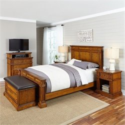 Bowery Hill 5 Piece King Bedroom Set in Oak