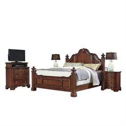 MER-1185 Home Styles Santiago King Bedroom Set in Cognac 2