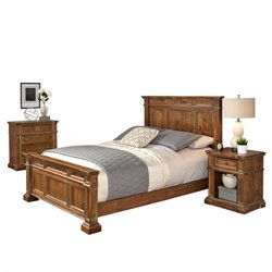 MER-1185 Home Styles Americana Queen Bedroom Set in Natural Acacia 2