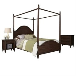 MER-1185 Bowery Hill 3 Piece Queen Bed Bedroom Set in Bourbon