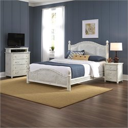 Bowery Hill 3 Piece Queen Poster Bedroom Set in White