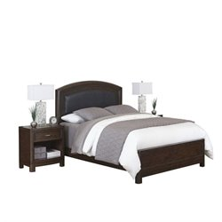MER-1185 Home Styles Crescent Hill 3 Piece Leather Bedroom Set 029A