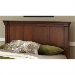 Bowery Hill Full Queen Panel Headboard and Media Chest in Cherry