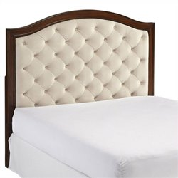 MER-1185 Bowery Hill Tufted Panel Headboard in Cherry