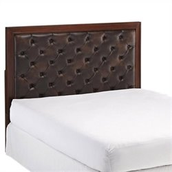 Bowery Hill King Tufted Panel Headboard in Cherry