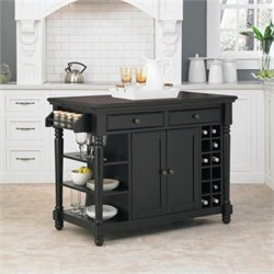Bowery Hill Kitchen Island in Black