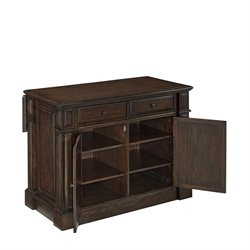 Bowery Hill Kitchen Island Cart in Black Oak