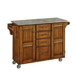 MER-1185 Bowery Hill Concrete Top Kitchen Cart