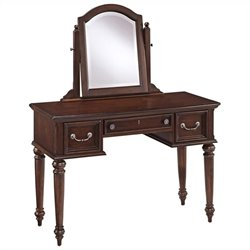 Bowery Hill Bedroom Vanity and Mirror in Dark Cherry