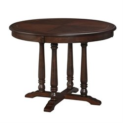 Bowery Hill Round Dining Table in Aged Bourbon