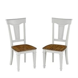 Bowery Hill Dining Chair in White Oak (Set of 2)