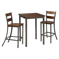 Bowery Hill 3 Piece Pub Set in Chestnut