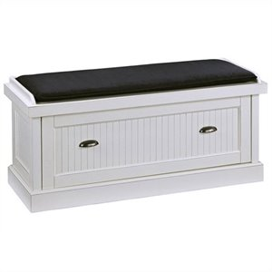Bowery Hill Upholstered Bench in White