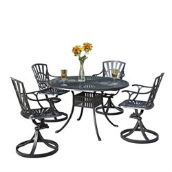 Bowery Hill 5 Piece Patio Dining Set in Charcoal