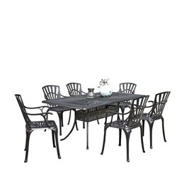 MER-1185 Largo 7 Piece Patio Dining Set in Charcoal 2