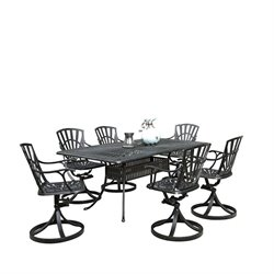 MER-1185 Largo 7 Piece Patio Dining Set in Charcoal 1