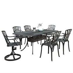 MER-1185 Largo 7 Piece Patio Dining Set in Charcoal 3