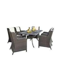 MER-1185 Bowery Hill Patio Dining Set in Charcoal